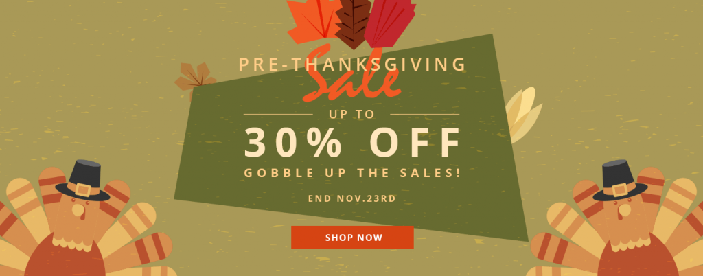 thanksgiving sale 2017