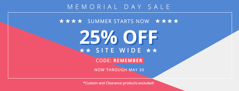 Memorial Day Sale 2018